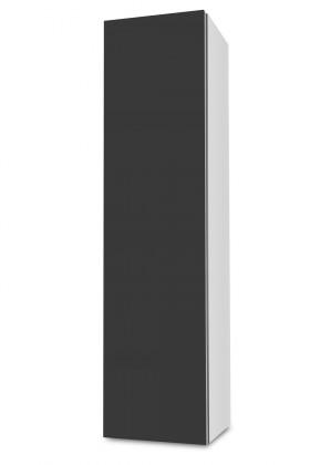 Závěsná Brisbane - závěsná skříň nízká,panty vlevo (bílá/antracit)