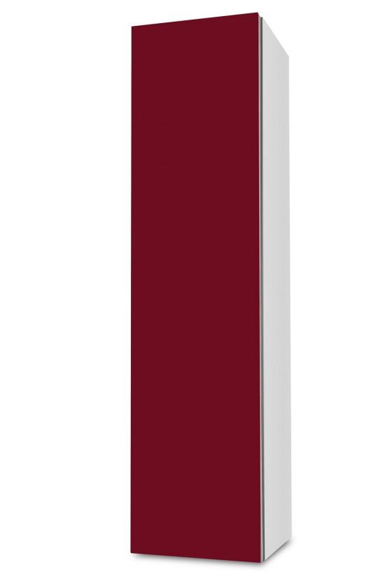 Závěsná Brisbane - závěsná skříň nízká,panty vlevo (bílá/bordó)