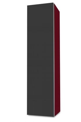 Závěsná Brisbane - závěsná skříň nízká,panty vlevo (bordó/antracit)