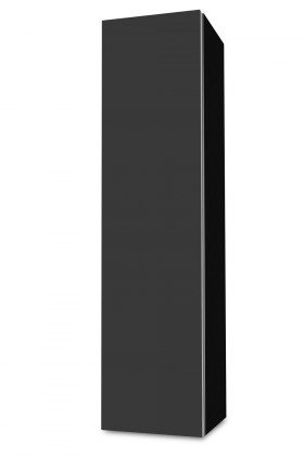 Závěsná Brisbane - závěsná skříň nízká,panty vlevo (černá/antracit)