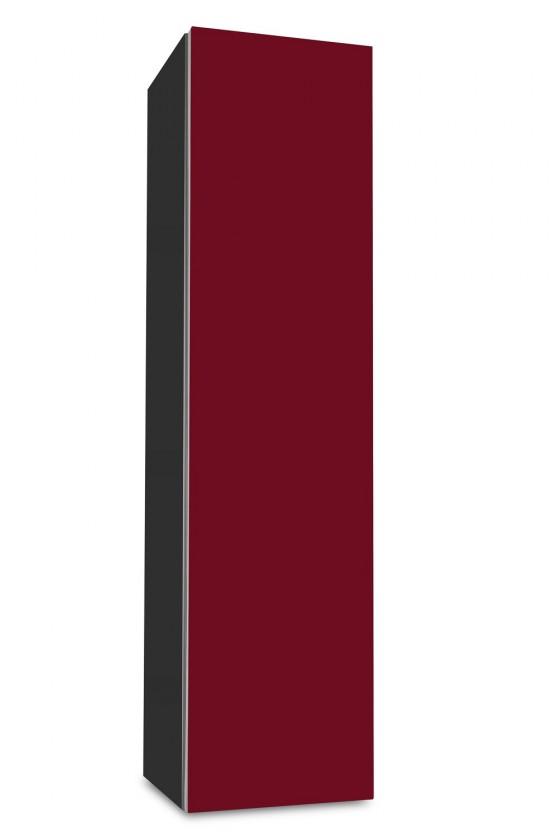Závěsná Brisbane - závěsná skříň nízká,panty vpravo (antracit/bordó)
