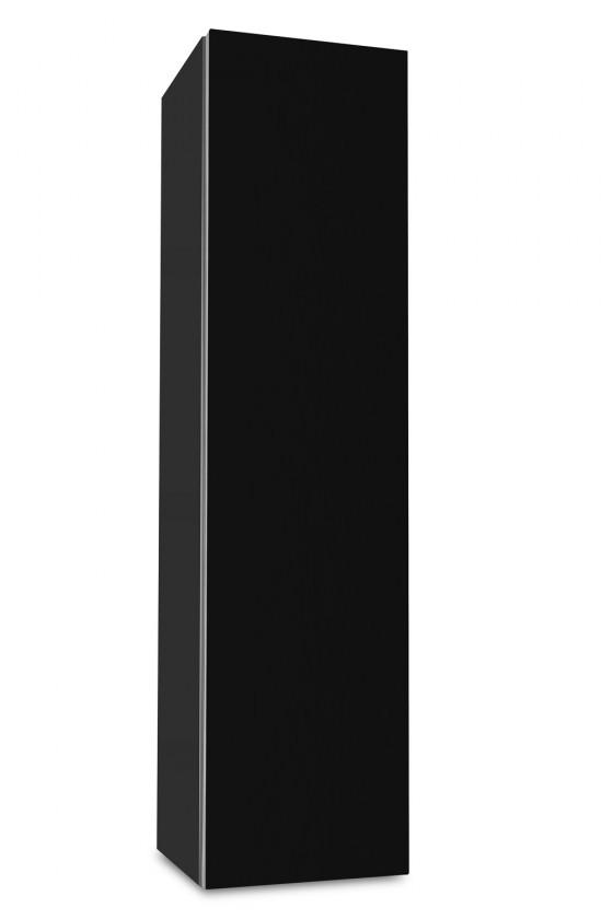 Závěsná Brisbane - závěsná skříň nízká,panty vpravo (antracit/černá)