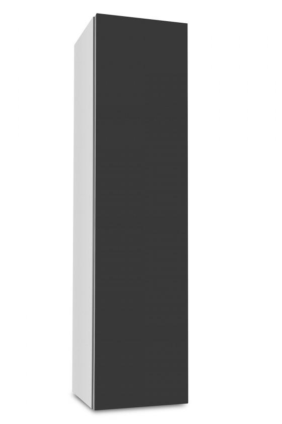 Závěsná Brisbane - závěsná skříň nízká,panty vpravo (bílá/antracit)