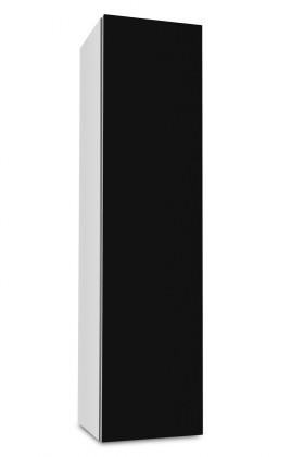 Závěsná Brisbane - závěsná skříň nízká,panty vpravo (bílá/černá)
