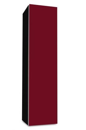 Závěsná Brisbane - závěsná skříň nízká,panty vpravo (černá/bordó)