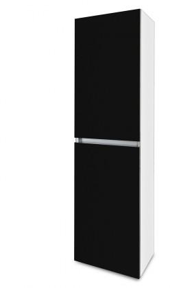Závěsná Brisbane - závěsná skříň vysoká,panty vlevo (bílá/černá)