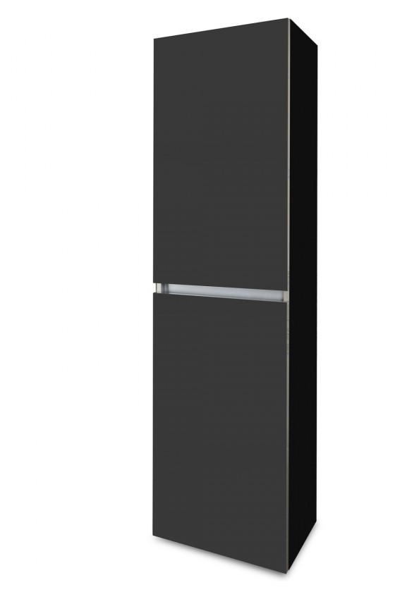Závěsná Brisbane - závěsná skříň vysoká,panty vlevo (černá/antracit)
