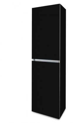 Závěsná Brisbane - závěsná skříň vysoká,panty vlevo (černá)