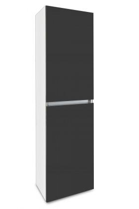 Závěsná Brisbane - závěsná skříň vysoká,panty vpravo (bílá/antracit)