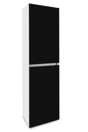 Závěsná Brisbane - závěsná skříň vysoká,panty vpravo (bílá/černá)