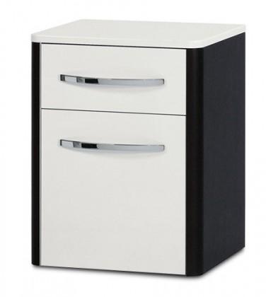 Závěsná Lucy - Závěsná skříňka spodní SD 273 (bílá lesk/wenge)