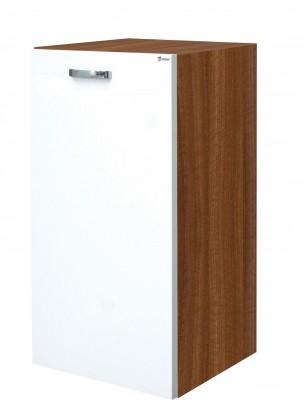 Závěsná Melbourne - Závěsná skříňka dolní, výklopný koš (ořech/bílá)