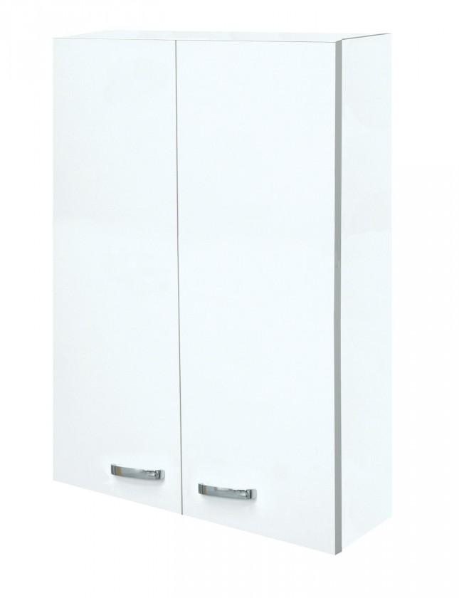 Závěsná Melbourne - Závěsná skříňka horní, 2x dvířka (bílá/bílá)