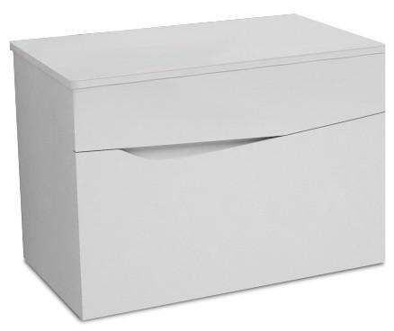 Závěsná Nice - Skříňka, 2 zásuvky (bílá vysoký lesk)
