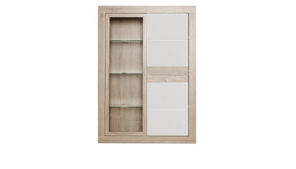 Závěsná skříňka Atrium ATRV13B (Dub sonoma/ bílá lesk)