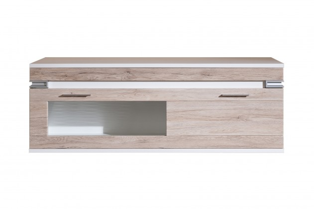 Závěsná skříňka Bow Typ 21 (bílá arctic LDTD / dub san remo sand MDF)