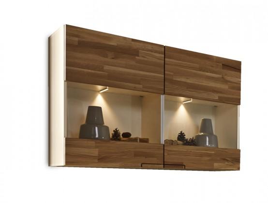 Závěsná skříňka Feel - Závěsný prvek, 2 dveře (bílá/dub)