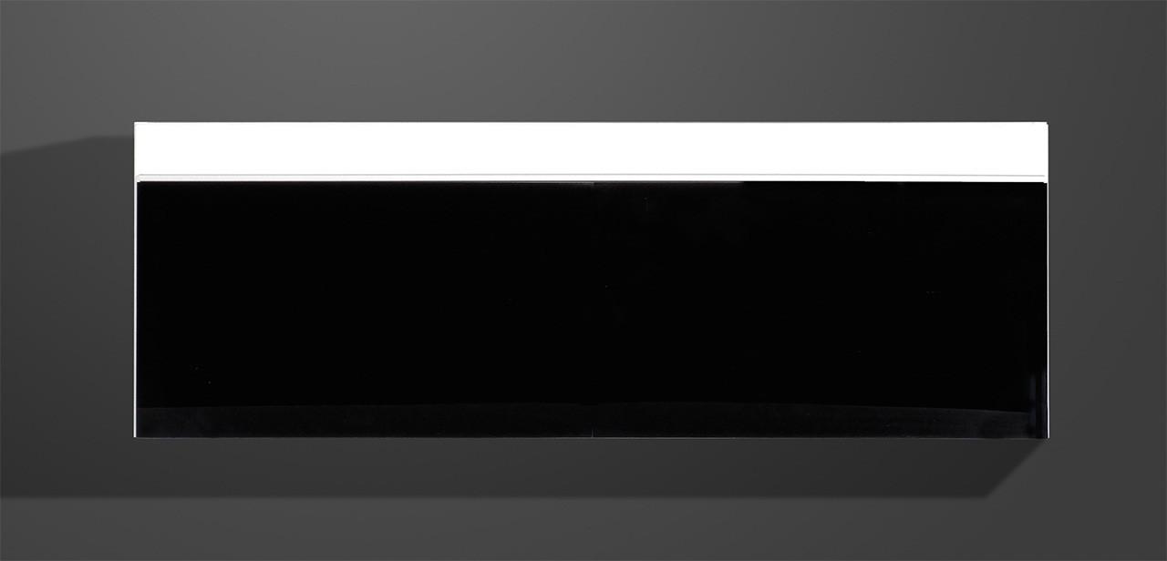 Závěsná skříňka Freestyle - Závěsná vitrína, 1508-73 (bílá/černé sklo)