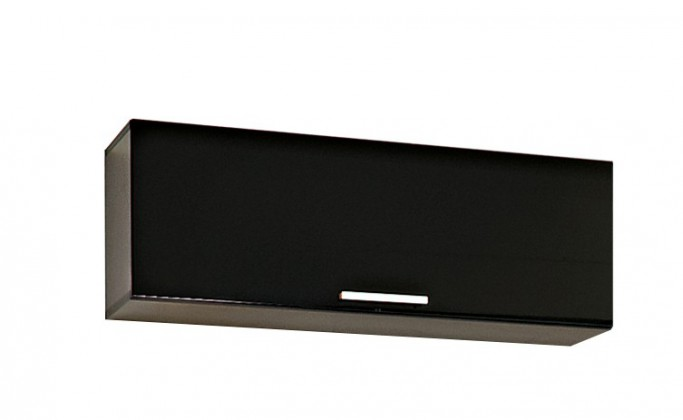 Závěsná skříňka Game - Závěsný prvek (černá/černá sklo GS)