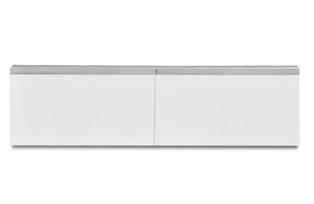 Závěsná skříňka Linea - závěsný prvek, 120 cm (bílá/bílá lak HG/stříbrná)
