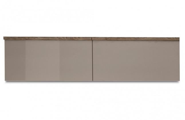 Závěsná skříňka Linea - závěsný prvek, 120 cm (dub tmavý/šedý kám.lak/dub tmavý)