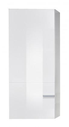 Závěsná skříňka Linea - Závěsný prvek (bílá/bílá HG/stříbrná)