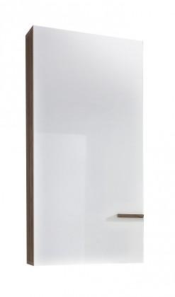 Závěsná skříňka Linea - Závěsný prvek (dub tmavý HN/bílá HG/ dub tmavý HN)