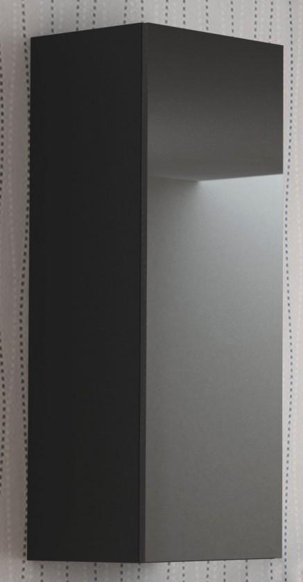 Závěsná skříňka Livo - Závěsná skříňka 120 (černá mat/černá lesk)