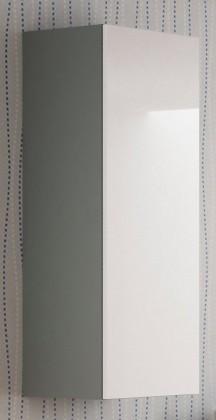 Závěsná skříňka Livo - Závěsná skříňka 120 (šedá mat/bílá lesk)
