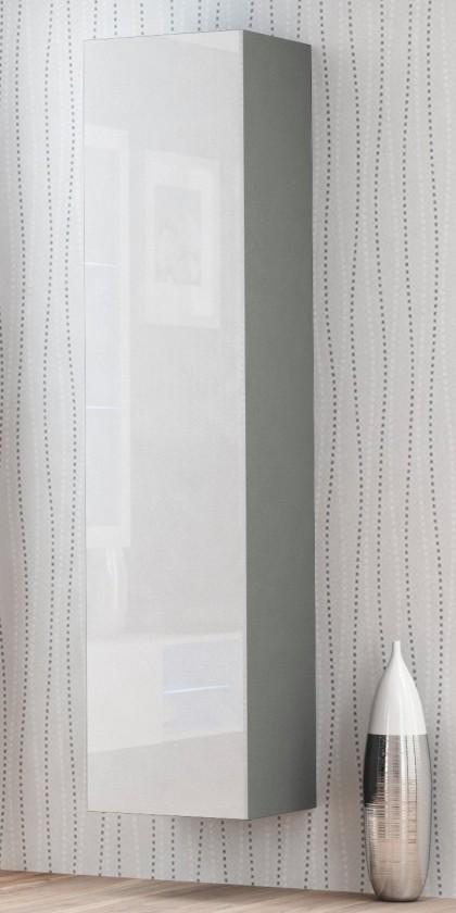 Závěsná skříňka Livo - Závěsná skříňka 180 (šedá mat/bílá lesk)