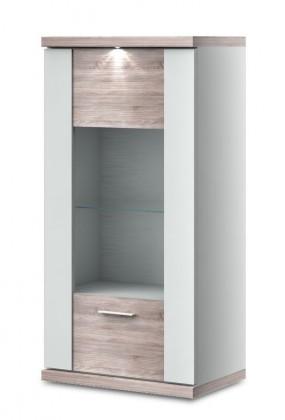 Závěsná skříňka Portoriko Typ 04 (Bílá arctic/dub bardolino)