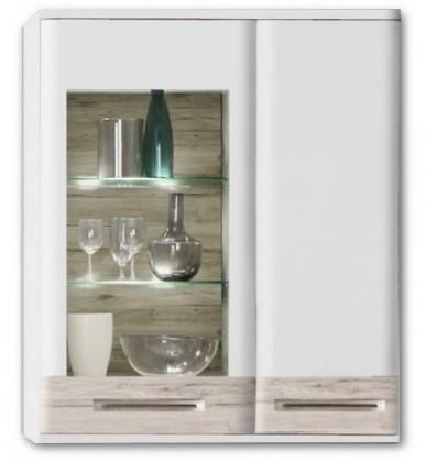 Závěsná skříňka Riva RIVV13R (Bílá / dub pískový)