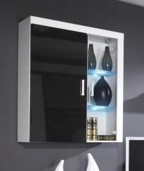 Závěsná skříňka Samba (Bílá/černá)