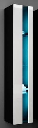 Závěsná skříňka Vigo - Vitrína závěsná 180,1x dveře bez skla (černá mat/bílá VL)