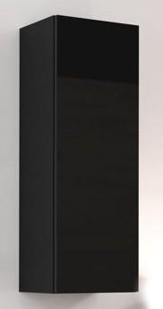 Závěsná skříňka Vigo - Vitrína závěsná, 1x dveře (černá mat/černá VL)