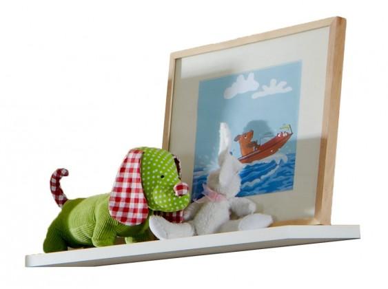 Zlevněné dětské pokoje Filou - Polička malá (alpská bílá)