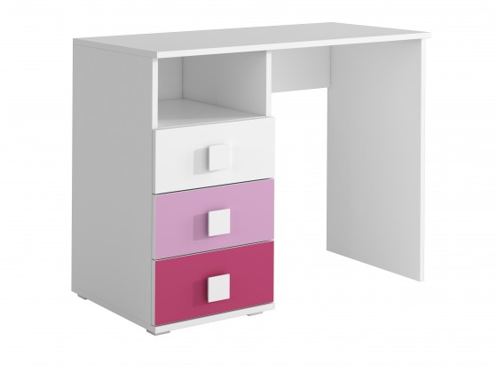 Zlevněné dětské pokoje FOX 08 - Pracovní stůl (růžová)