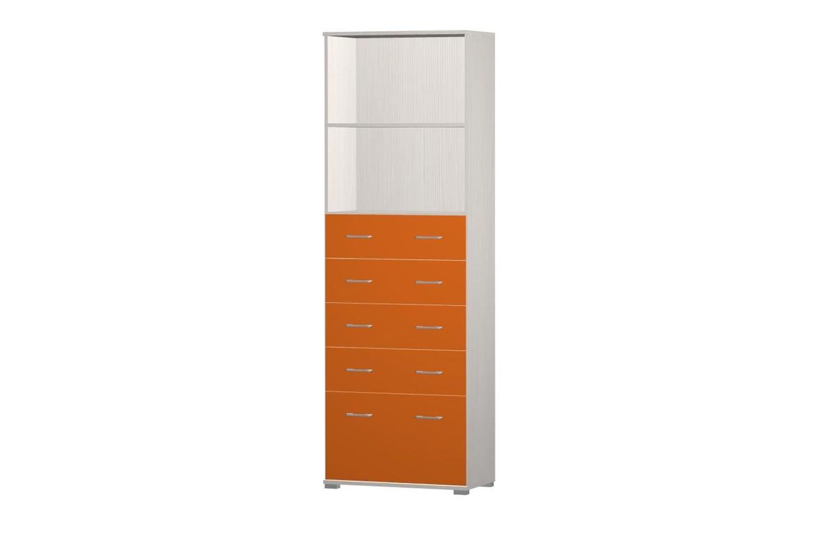 Zlevněné dětské pokoje Happy Typ 10+2x typ 62+typ 65 (woodline creme/tmavě oranžová)