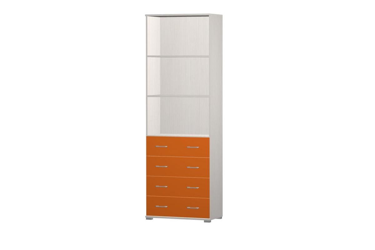 Zlevněné dětské pokoje Happy Typ 10+2x typ 62 (woodline creme/tmavě oranžová)