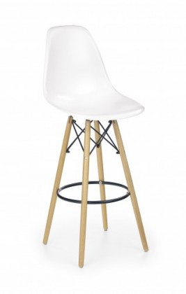 Zlevněné kuchyně, jídelny Barová židle H-51 (masivní dřevo/bílá)