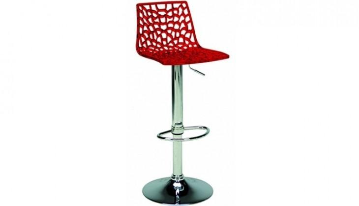 Zlevněné kuchyně, jídelny Barová židle Spider (červená) - II. jakost