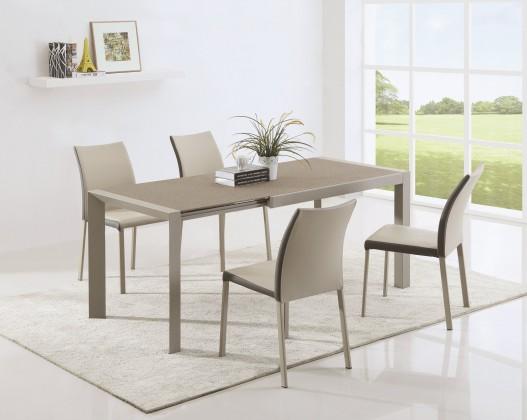 Zlevněné kuchyně, jídelny Jídelní stůl Arabis 2 - 120-182x80 cm(hnědá,béžová) - PŘEBALENO