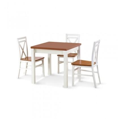 Zlevněné kuchyně, jídelny Jídelní stůl Gracjan - 80-160x80 cm (olše/bílá) - PŘEBALENO
