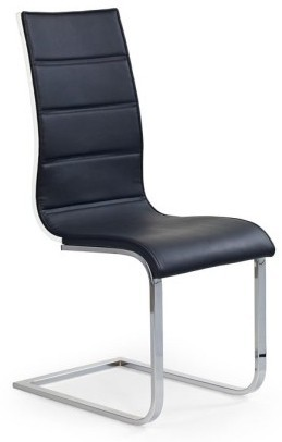 Zlevněné kuchyně, jídelny Jídelní židle K104 eko kůže, černá, bílá záda - II. jakost