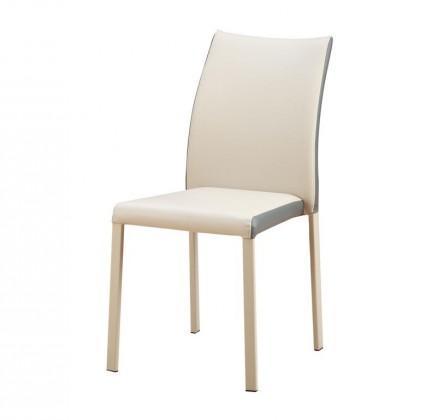 Zlevněné kuchyně, jídelny Jídelní židle K182 (eko kůže béžová,šedá,ocel) - II. jakost