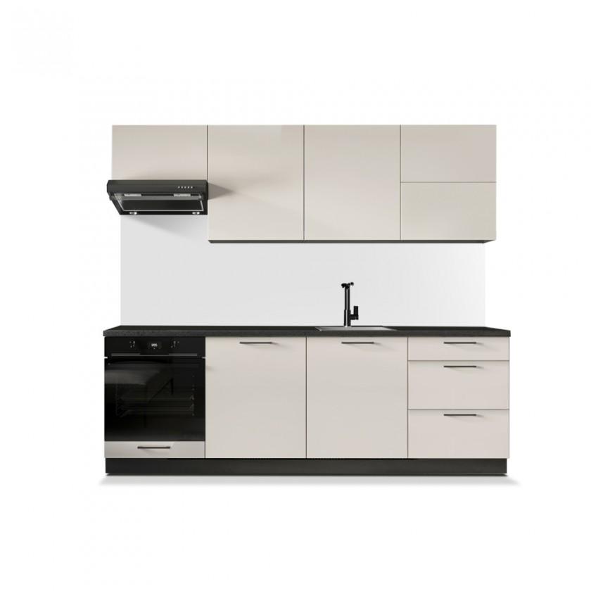 Zlevněné kuchyně, jídelny Kuchyně Betty 240 cm (jasmín, lesk) - II. jakost