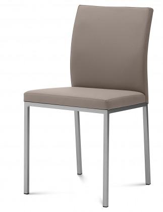 Zlevněné kuchyně, jídelny Miro - Jídelní židle (saténový hliník, taupe B14) - Z EXPOZICE