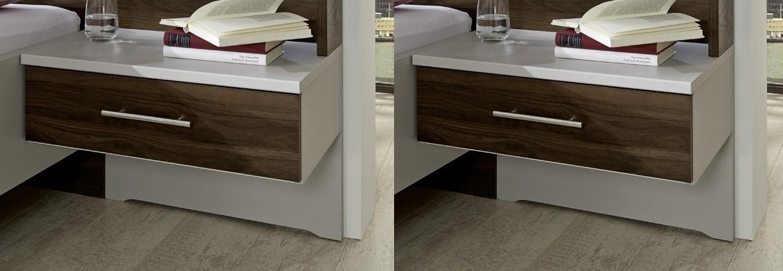 Zlevněné ložnice Noční stolek Imola - 1x výsuv, visutý, 2 ks - PŘEBALENO