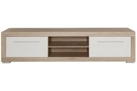 Zlevněné obývací pokoje Atrium ATRT12 (Dub sonoma/ bílá lesk) - II. jakost