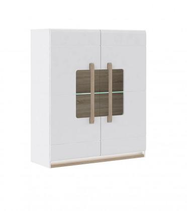 Zlevněné obývací pokoje Attention-ATNV52B(P50 - bílý / dub sonoma / bílý lesk)